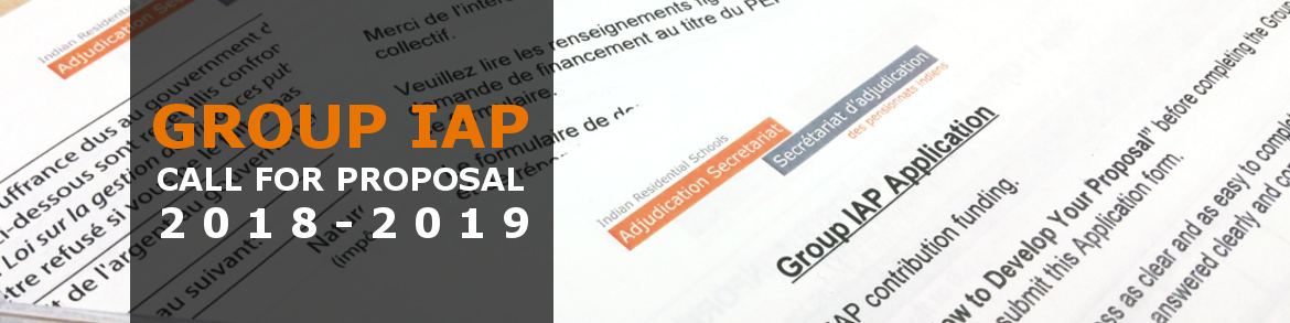 Group IAP Call for Proposals | 2018-2019